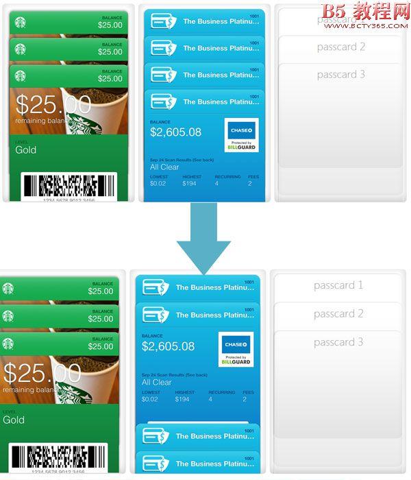 HTML5仿苹果手机的面板合拢折叠效果