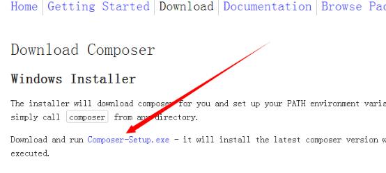 类库管理composer安装及Laravel5.2框架下载