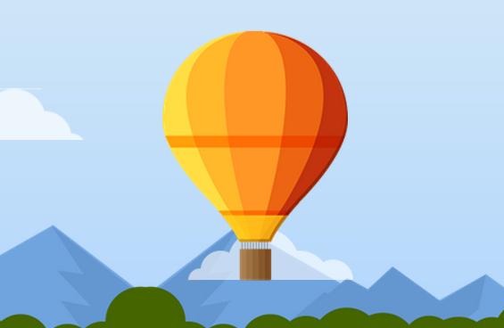 css3热气球飘动效果