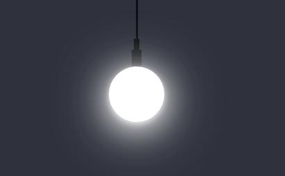 html5 canvas实现开灯关灯